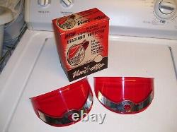 1950s Antique nos Automobile headlight Visor-ettes Vintage Chevy Ford harley