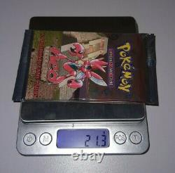 2001 Pokemon Neo Discovery Booster Pack Factory Sealed Scizor Art HEAVY 21.3g