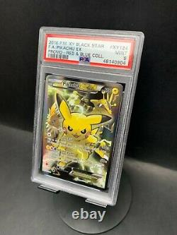2016 Pokemon XY Black Star Promo XY124 Full Art/Pikachu EX PSA 9 MINT