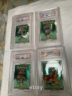 4X Pokemon Skyridge PSA 10 Packs WOTC GEM MINT Full Art Set Wizards Coast RARE