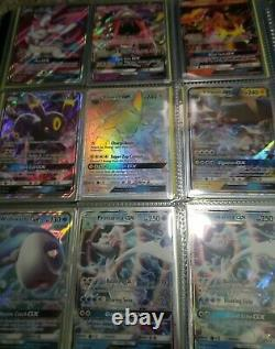 89 Full art card lot pokemon cards binder V VMAX EX GX Rainbow Rare Trainer