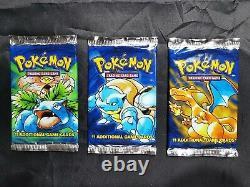 ART SET BRAND NEW SEALED vintage original Pokemon unlimited base Booster Packs