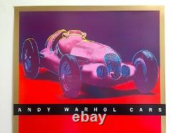 Andy Warhol Estate Rare 1988 Lithograph Print Guggenheim Cars Exhibition Poster