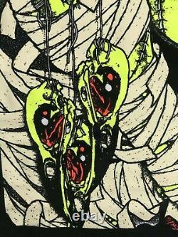 Bird Catcher Pushead Poster 23 x 35 Metallica Artist Rare Find Blacklight Horror