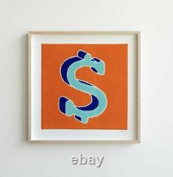 CJ Hendry DollaryDoo Chenile Patch Dollar Sign LE 100 Signed and Framed New Rare