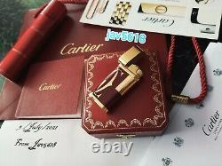 Cartier Lighter Logotype Burgundy New Rose Gold, Ultra Rare Bnib, Art, Mint