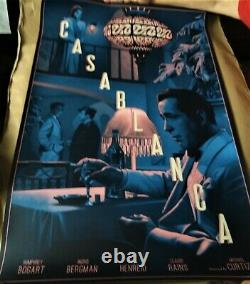 Casablanca by Rory Kurtz Screen Print VERY RARE AP Poster Art Mondo Movie Bogart