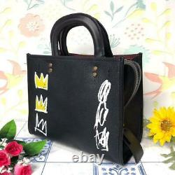 Coach x Basquiat Collaboration Tote Bag Black Famous Rare 2way NEW From Japan