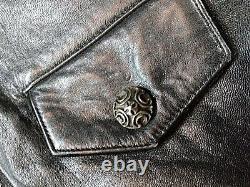 Custom Made Rare Alligator EXOTIC- ART Lambskin Leather Jacket NEW made In USA