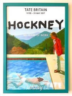 David Hockney Rare Lithograph Print Tate Museum Framed Pop Art Exhbtn Poster