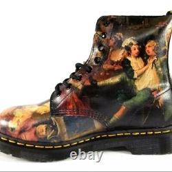 Dr. Doc Martens Pascal Hogarth Renaissance Combat Boots Men Size US12 UK11 RARE