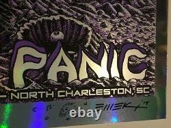 EMEK Widespread Panic Rare Poster 2014 Foil Variant N Charleston SC
