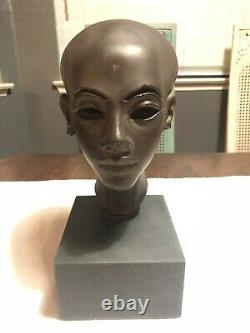Egyptian Woman Bust New York Alva Studios Authentic Reproductions Vintage RARE
