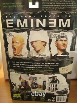 Eminem Action Figure & Diorama Rare Art Asylum 76200 BNIB Slim Shady chainsaw