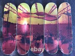 FTC x Carlos Santana Skateboard Deck Set Woodstock Photo 12/100 Rare Limited