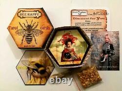 Honey bee art tarot card cards deck tell fortune telling rare vintage oracle set