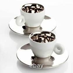 ILLY ART COLLECTION Coffee Set by Anish Kapoor 2 Espresso + 2 Saucers (RARE!)