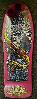 Jason Jessee Santa Cruz Neptune Reissue Skateboard Rare Raspberry Dip in shrink