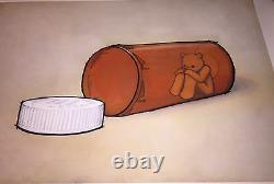 LUKE CHUEH 2011 THE PRISONER 30X 22 ART PRINT S/N 49/50 Vicodin Drug Bear RARE