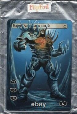 MTG Karn Liberated RUSSIAN / New Phyrexia Magic Altered HAND PAINTED Card Art