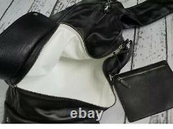 Margiela H&m Rare Black Leather Large Guitar Case Bag Bnwt