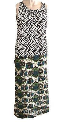 Marni For H&m Rare Retro 60's Boho Ethnic Silk Maxi Dress Uk 14 Eu 40 Medium New