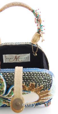 Mary Frances Coconut Grove Handbag New Purse Bag Palm Tree Seahorse Rare USA