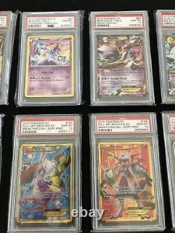 Mewtwo Psa 10 Collection Full Art Ex Lv X GX Shining Secret Rare Pokemon