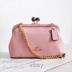NWT Coach C1451 Nora Kisslock Leather Crossbody in Carnation RARE