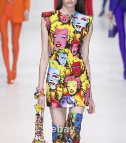NWT Versace RARE Italy Pop Art 1991 Marilyn Monroe James Dean Tribute Dress, 42