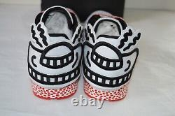 New Reebok CL Leather Lux Keith Haring Techy Red/White/Black Pump Rare 11 Aliens