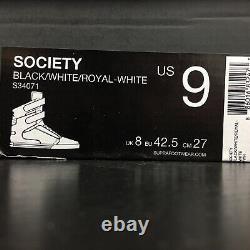 New Supra TK Society RETNA 413 Hi Top S34071 Black White Royal Men Size 9 RARE