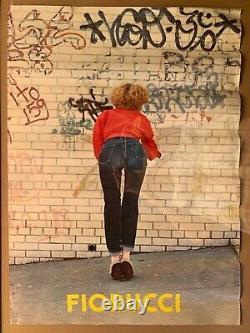 Original Vintage Rare 1978 Fiorucci New Wave Italian Fashion Poster Jeans