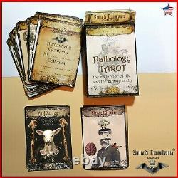 Pathology art tarot cards deck guide book wicca oracle rare minor arcana vintage