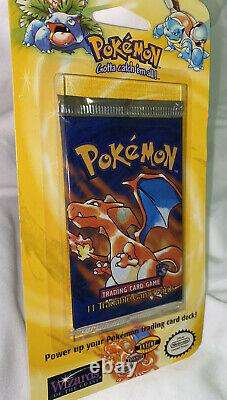 Pokemon Base Booster pack 1999 on Blister Charizard Shadowless art Rare Mint