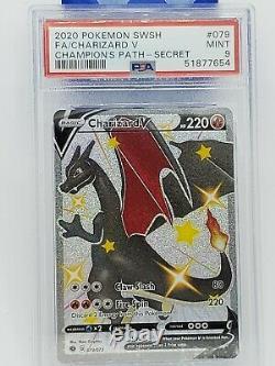 Pokemon Champions Path Full Art Shiny Charizard V 079/073 Mint PSA 9 Secret Rare