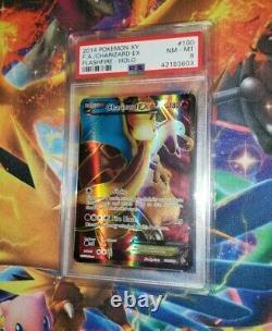 Pokemon Charizard EX 100/106 PSA NM MT 8 Full Art Ultra Rare xy flashfire