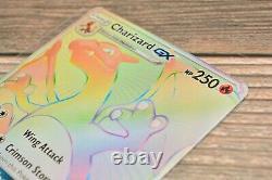 Pokemon Charizard GX Full Art Burning Shadows Secret Rainbow Rare 150/147