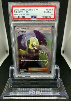 Pokemon Cynthia SV82/SV94 Full Art Holo Rare Hidden Fates PSA 10 Gem Mint