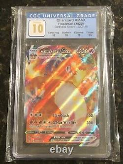Pokemon Darkness Ablaze #020 Charizard VMAX Full Art Holo CGC 10 PRISTINE
