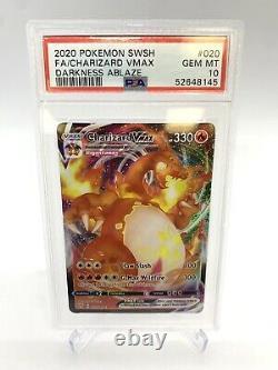Pokemon Darkness Ablaze PSA 10 Charizard VMAX Full Art (020/189) GEM MINT