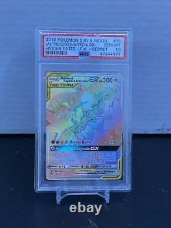 Pokemon Moltres Zapdos Articuno Full Art Secret Rare Hidden Fates PSA 10 Mint