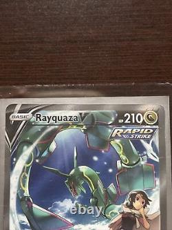 Pokemon RAYQUAZA V 194/203 Evolving Skies FULL ALTERNATE ART ULTRA RARE NEW