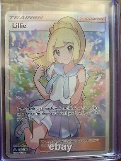 Pokemon TCG Lillie 151/156 Full Art Trainer Secret Rare Ultra Prism LP Mint