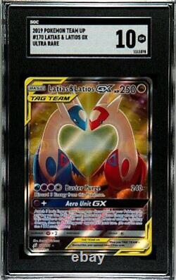 Pokemon Team Up 170/181 Latias & Latios Full Alternative Art Ultra Rare SGC 10