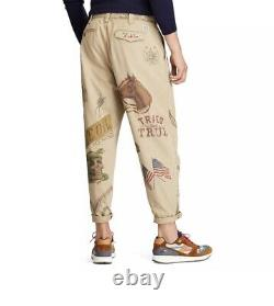 Polo Ralph Lauren RARE American Frontier Western Graphics Chinos Pant Size 36x32