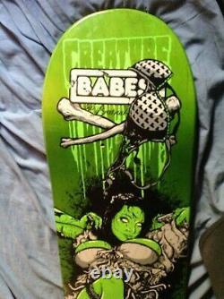 RARE! CREATURE BABES Series 1 TODD BRATRUD Art 8.25 Medium skateboard deck