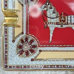 RARE HERMES PARIS CIGAR ASHTRAY Porcelain Horse Art Design Made in France (NEW)