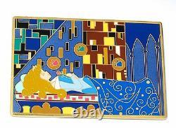 RARE JUMBO LE Disney Pin Sleeping Beauty Aurora Art Nouveau Easel Merryweather+