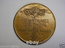 Rare 1920 School Art League Of New York City, For Merit Award Medal, Gorham Co